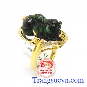 Nhẫn nữ vàng tỳ hưu