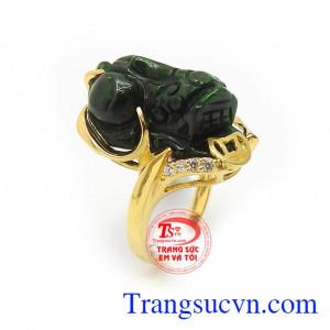 Nhẫn Vàng 14k Tỳ Hưu Phú Quý