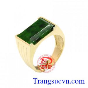 Nhẫn nam ngọc jadeite sang trọng
