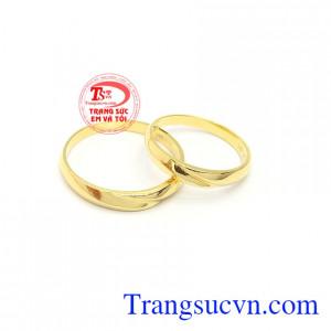 Nhẫn cưới thủy chung 18k