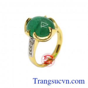 Nhẫn nữ ngọc lục bảo Emerald