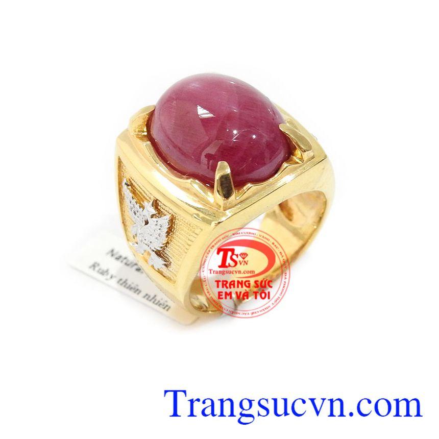 Nhẫn nam ruby đẹp sang trọng