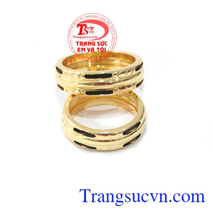 hẫn cưới vàng vàng tây đẹp sang trọng