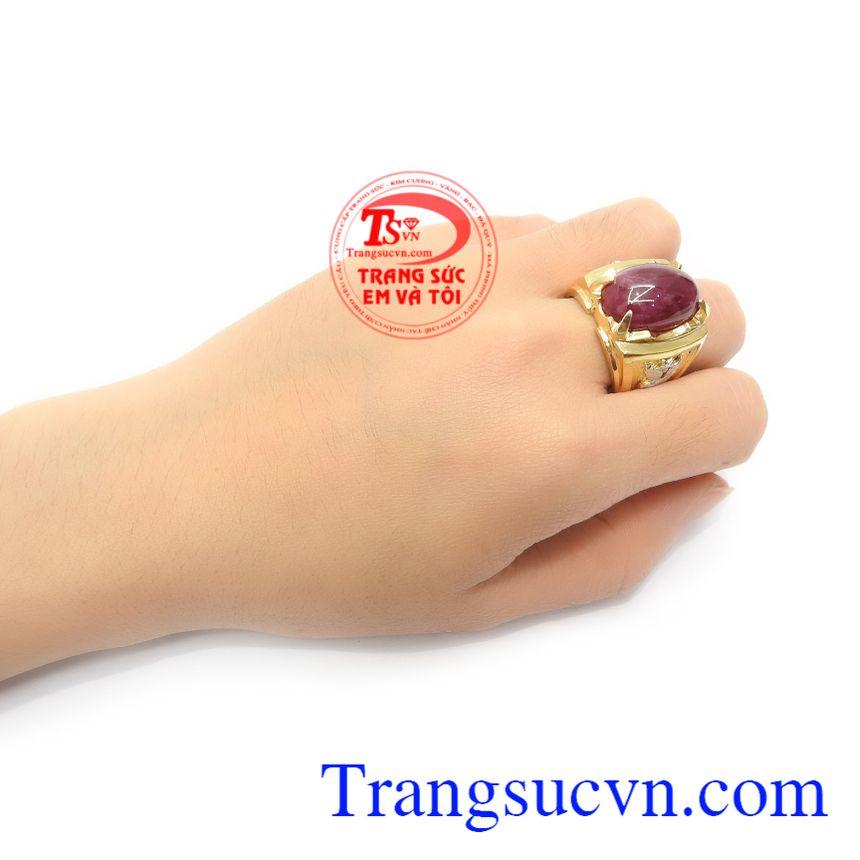 Nhẫn Nam Ruby Thịnh Vượng vàng 18k sang trọng đẳng cấp