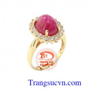 Nhẫn nữ ruby tinh tế