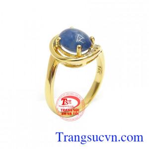 Nhẫn Nữ Vàng Sapphire Bình An