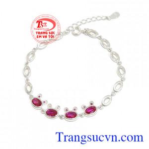 Lắc bạc thỏ hồng xinh xắn