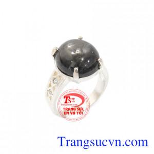 Nhẫn nữ bạc saphia đẹp