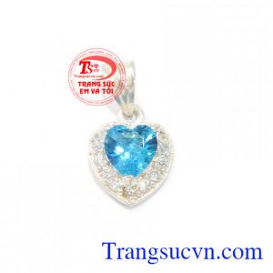 Mặt dây bạc trái tim đẹp