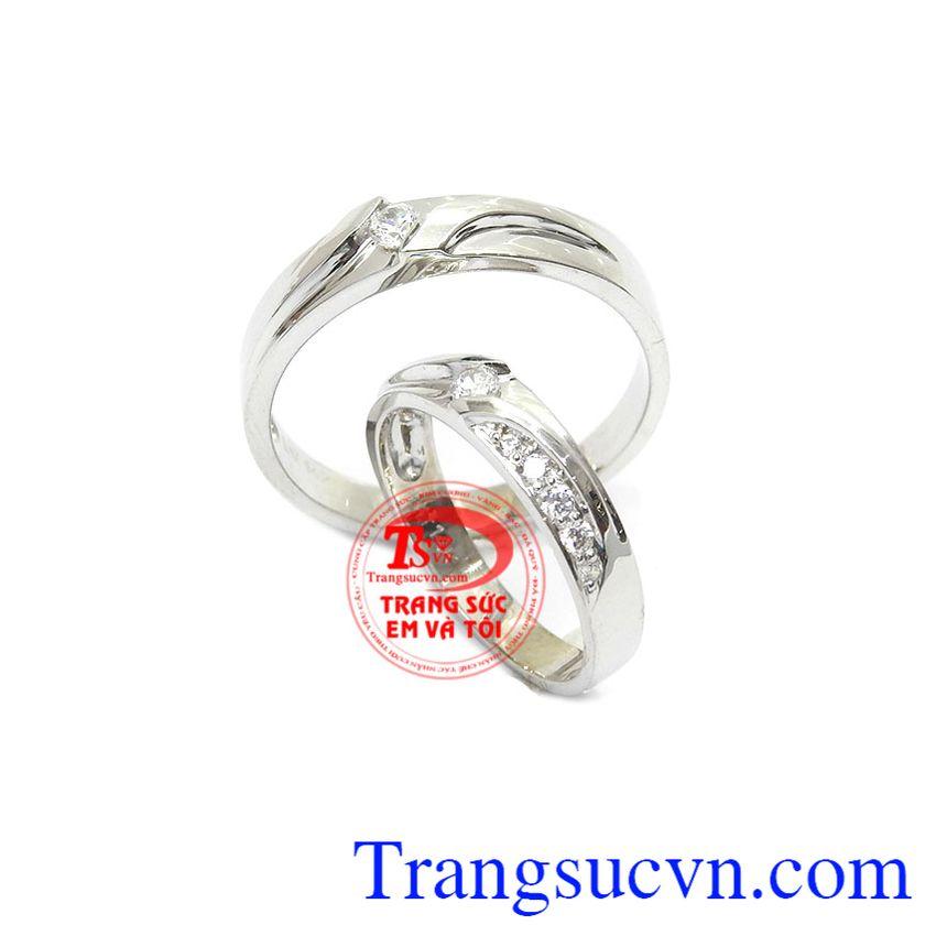 Nhẫn cưới vàng trắng đẹp xu hướng nhẫn cưới trong năm nay