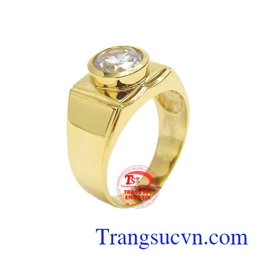 Nhẫn vàng 18k nam mạnh mẽ