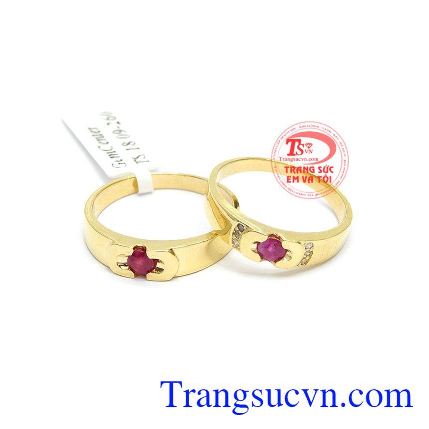 Nhẫn cưới Ruby tình yêu