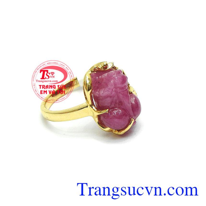 Nhẫn tỳ hưu ruby hưng thịnh hợp với người mệnh thổ và mệnh hỏa