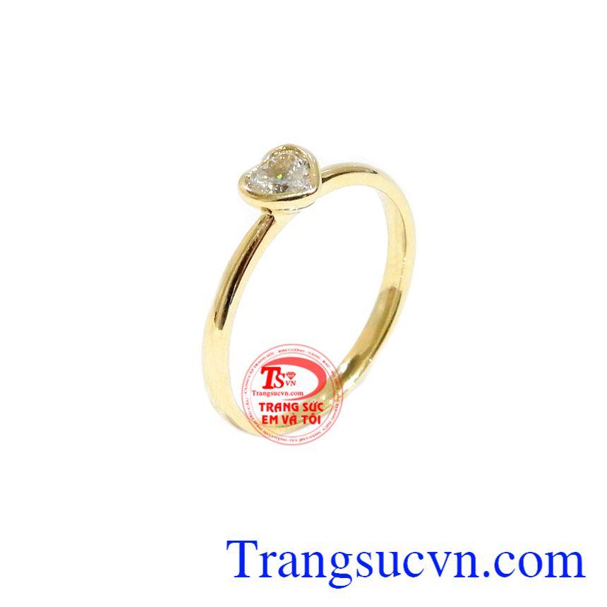 Nhẫn nữ trái tim vàng 10k