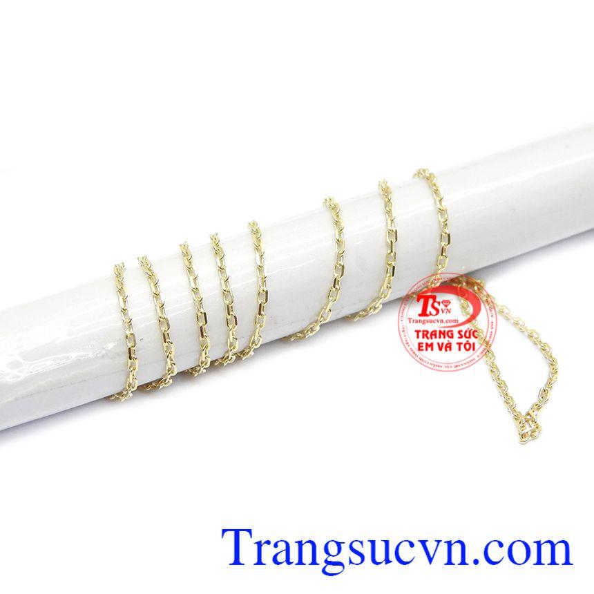 Dây chuyền vàng được bảo hành uy tín, giao hàng toàn quốc.c