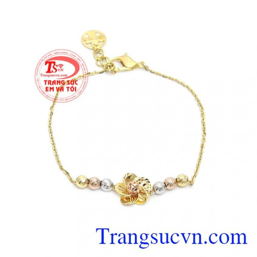 Lắc tay nữ hoa vàng 10k