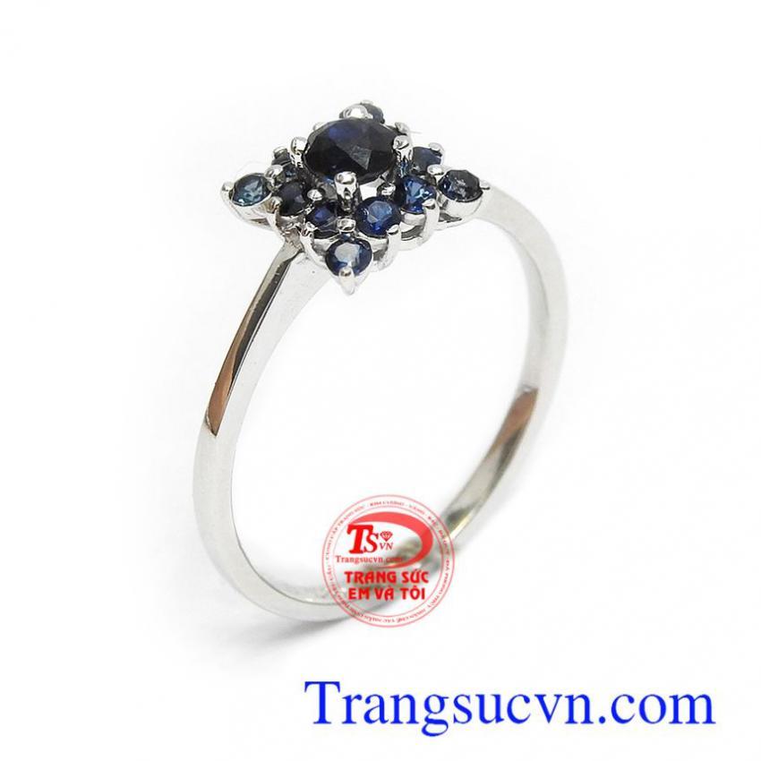 Nhẫn nữ Sapphire vàng 14k phú quý