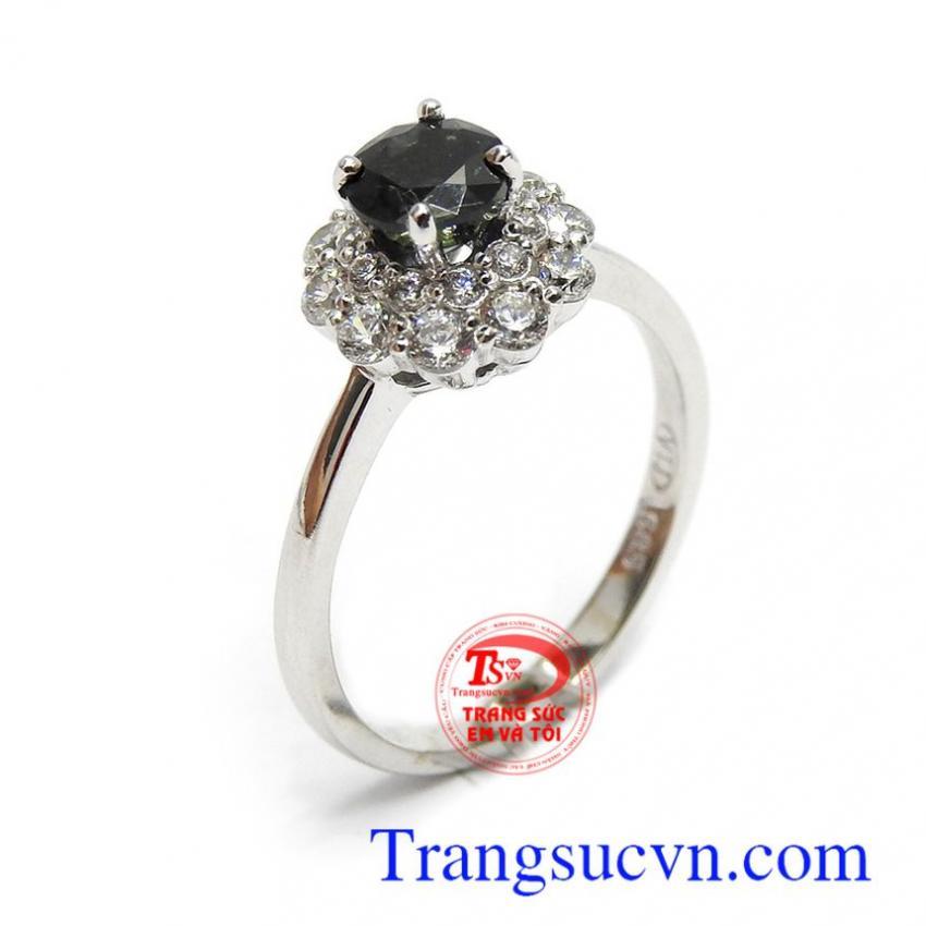 Nhẫn nữ vàng Sapphire hưng vượng