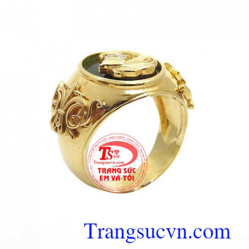 Nhẫn nam vàng ngọc cẩm thạch