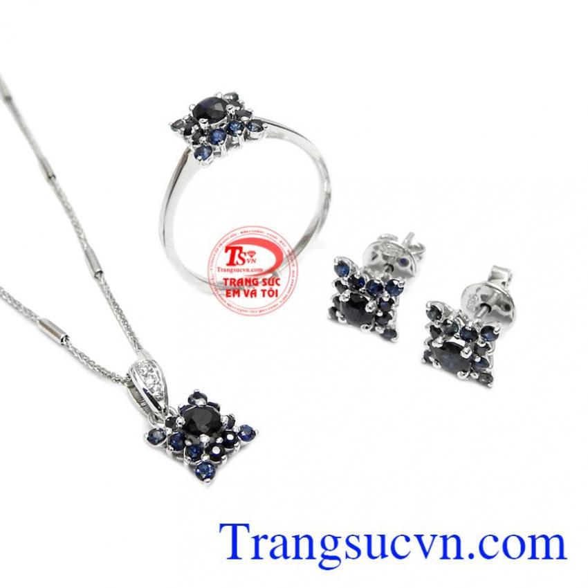 Bộ trang sức sapphire phú quý