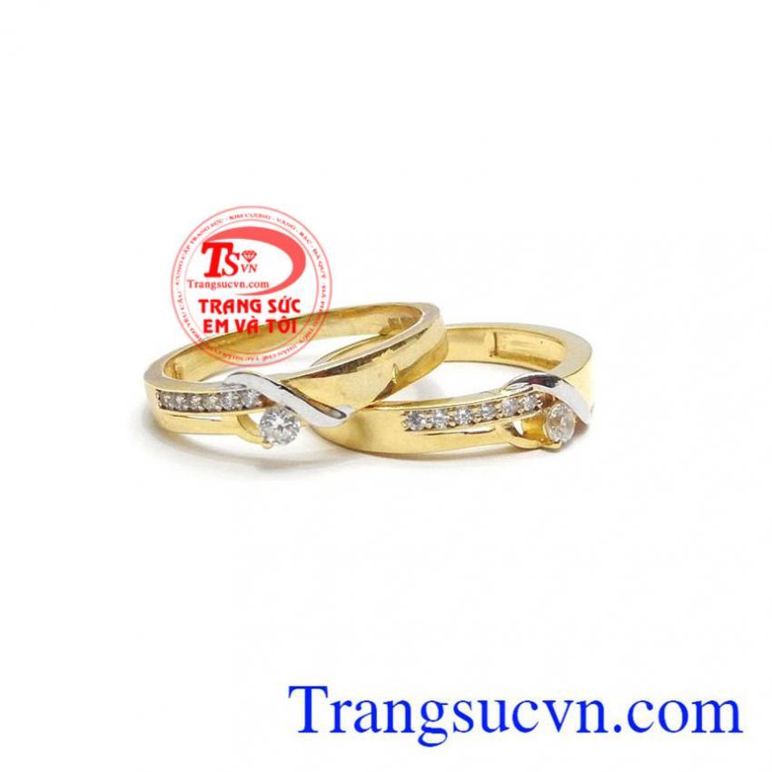 Đôi nhẫn cưới hạnh phúc thủy chung