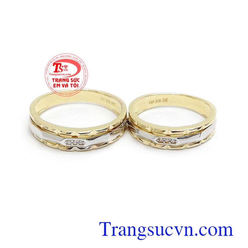 Nhẫn cưới 10k Korea thủy chung kiểu dáng thời trang, sang trọng, là vật minh chứng cho tình yêu đôi lứa