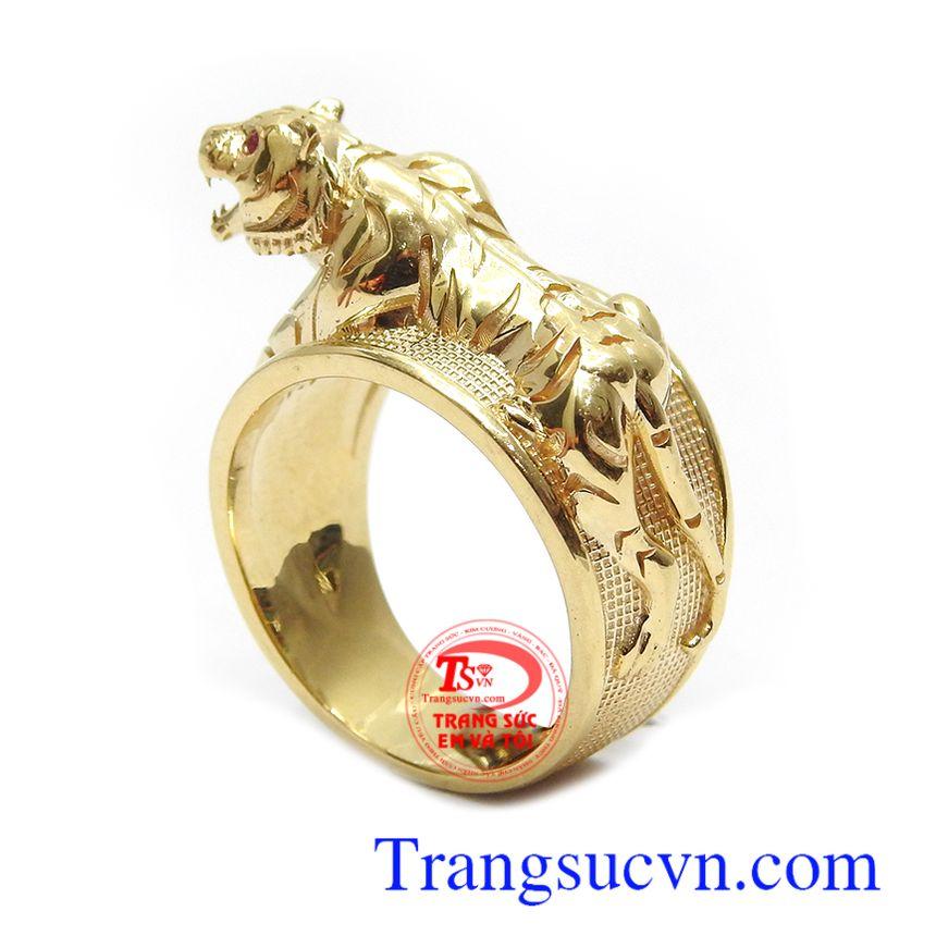 Nhẫn nam vàng 18k đẳng cấp thời trang