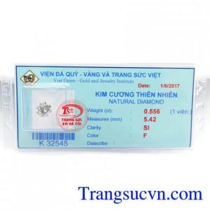 Kim Cương Thiên Nhiên 5.42 Ly