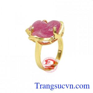 Nhẫn hồ ly ruby đẹp