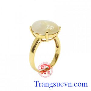 Nhẫn nữ sapphire 14k đẹp