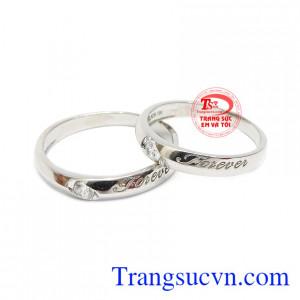 Nhẫn cưới vàng trắng forever