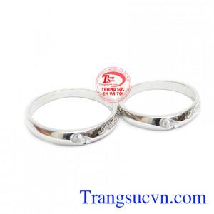 Nhẫn cưới vàng trắng forever là sản phẩm với thiết kế tinh tế, đẹp mắt và hợp thời trang
