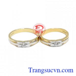 Nhẫn cưới yêu thương Korea là sản phẩm mới mang kiểu dáng hiện đại, tinh tế.
