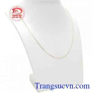 Dây chuyền vàng nhỏ xinh 10k được thiết kế nhỏ gọn, hợp thời trang và rất dễ sử dụng