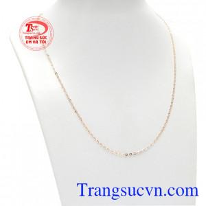 Dây chuyền nữ duyên dáng vàng hồng được chế tác từ vàng 10k
