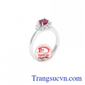 Nhẫn nữ ruby hạnh phúc