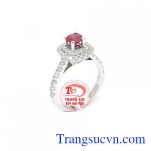 Nhẫn ruby phú quý