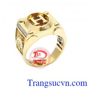 Nhẫn vàng chữ H 18k