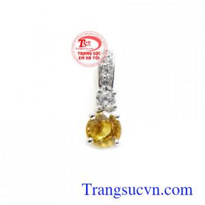Mặt dây Sapphire vàng thịnh vượng