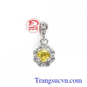Mặt dây Sapphire vàng bình an