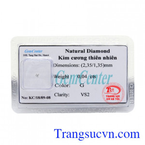 Kim cương thiên nhiên 2.35 ly