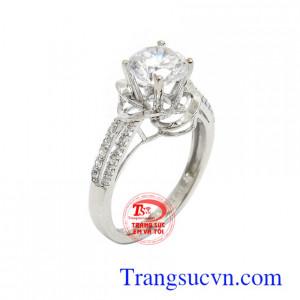 Nhẫn nữ vàng trắng Korea phong cách