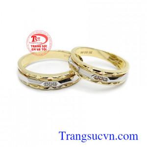 Nhẫn cưới 10k Korea thủy chung nhập khẩu, nhẫn cưới vàng tây bền đẹp, chất lượng