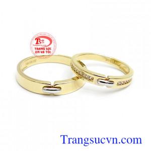 Nhẫn cưới Korea tình yêu son sắc