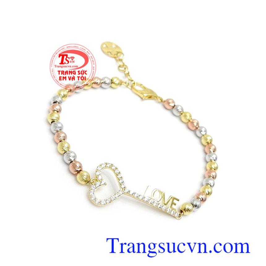 Lắc tay vàng 10k phù hợp phong cách thời trang phái đẹp