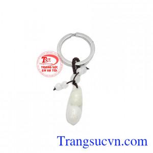Móc chìa khóa cẩm thạch đậu đẹp