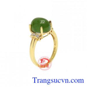 Nhẫn nữ nephrite đẹp