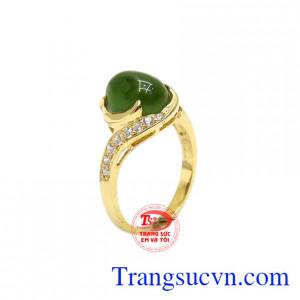 Nhẫn nữ nephrite nữ tính