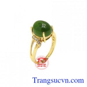 Nhẫn nữ nephrite tinh tế