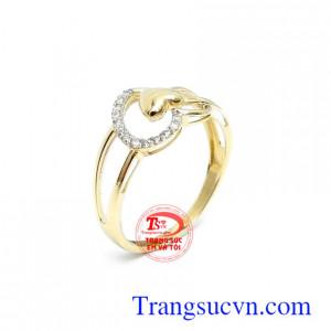 Nhẫn nữ Korea 10k quý phái